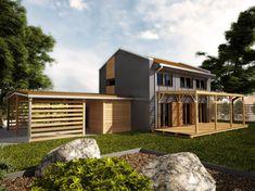 Projekt rodinný dům 5+1 / kk, možno také pasivní dům,506   Zděné rodinné domy   Projekty domů cz