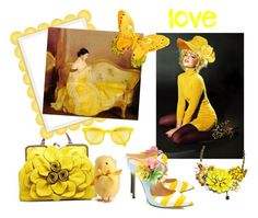 """For the Love of Yellow 💛"" by glitterlady4 ❤ liked on Polyvore featuring art"