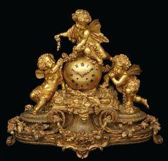 A fine Napoleon III gilt bronze mantel clock Richond Frères, Paristhird quarter 19th century