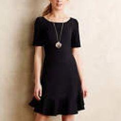 Anthropologie Marcelline Flounced Sheath Dress