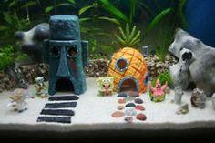 vive en una piña debajo del mar .!!