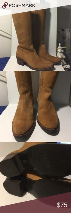 """MATISSE Genuine Suede boots sz 6.5 Gently worn, see photos, inside zipper, stacked 2"""" heel, cowboy boot style, measures 17"""" floor to top of boot.  Calf opening, 16"""" Matisse Shoes Heeled Boots"""