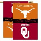 Ncaa 28 in. x 40 in. Oklahoma/Texas Rivalry House Divided Flag