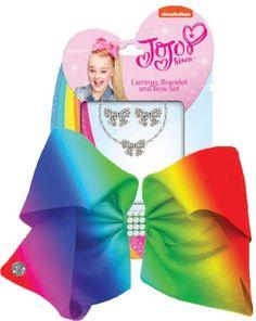 JoJo Siwa Large Rhinestone Rainbow Hair Bow Bracelet
