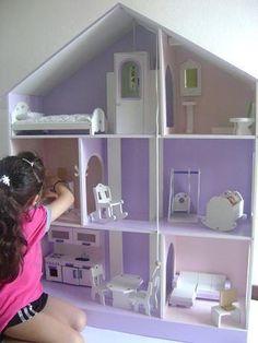 22 ideas para hacer casas de las muñecas DIY