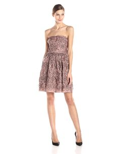 Strapless Cut-Out Fit and Flare Dress by Jill Jill Stuart