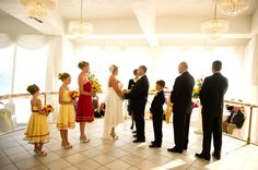 Want an indoor wedding with a beach view? Presidential Ballroom Ceremony - view of St Pete Beach, Grand Plaza Resort