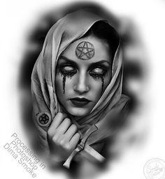 Smoke Tattoo studio®'s photos Girl Face Tattoo, Girl Face Drawing, Girl Tattoos, Cop Tattoos, Smoke Tattoo, Dark Tattoo, Tattoo Design Drawings, Tattoo Designs, Celtic Tattoos For Men