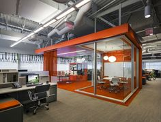 CPG Architects have designed the offices of cycling portfolio company Dorel Sports, located in Norwalk, Connecticut. CPG was retained by Dorel for the Hon Office Furniture, Patio Furniture For Sale, Furniture Depot, Design Furniture, Visual Merchandising, Sports Office, Warehouse Office, Container Office, Open Office
