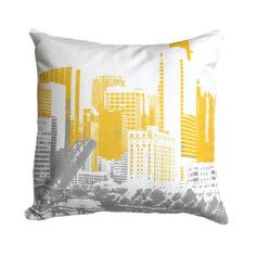 Chicago Throw Pillow Gray, $35, now featured on Fab.
