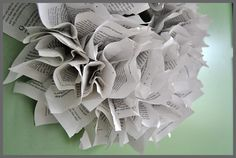 Make a book page wreath in just 3 easy steps, a simple tutorial at Sparkles of Sunshine. How To Make Wreaths, Crafts To Make, Book Page Wreath, Book Making, Book Pages, Book Crafts, Junk Journal, Christmas Wreaths, Sparkles