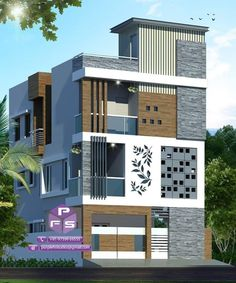 Top 30 Most Beautiful Houses Front Designs 2019 - Engineering Discoveries House Outer Design, House Wall Design, Bungalow House Design, House Front Design, New Model House, Model House Plan, House Plans, Residential Building Design, Home Building Design