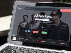 Music WebApp - FanX on Behance