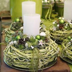 Event Advent - Adventsausstellung - New Ideas Christmas Advent Wreath, Christmas Flowers, Nordic Christmas, Christmas Scenes, Green Christmas, Rustic Christmas, Winter Christmas, Christmas Time, Christmas Crafts