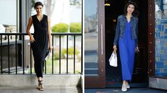 Skip the sweats on your next vacation. A maxi dress is just as comfortable for travel, and it looks great when you get to your destination. Try it with a jacket and sneakers on your flight, style it with jewelry and heels for dinner, or throw it over your bikini as a beach coverup. Stylist Alison Deyette shows you how.