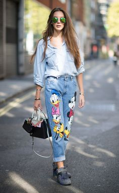 Estelle Pigault from Street Style at London Fashion Week Spring 2016   wearing chanel sneakers and fendi bag