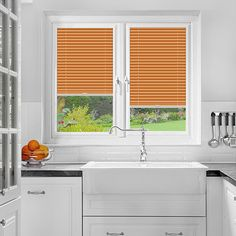 A Orange Colour PerfectFit Pleated Blind it is ideal for PVC windows