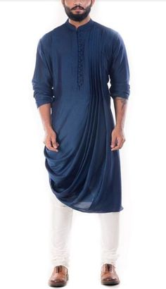 New Mens Wedding Rayon Cowl Draped Kurta With Cotton Churidar Pants Plus Size – Men's style, accessories, mens fashion trends 2020 Mens Indian Wear, Mens Ethnic Wear, Indian Groom Wear, Indian Men Fashion, Mens Fashion Suits, Kurta Pajama Men, Kurta Men, Mens Sherwani, Dhoti Mens