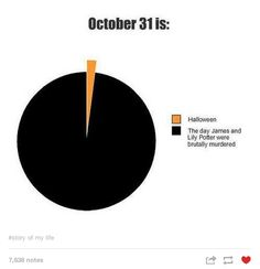 This is how most of Tumblr views October 31st. | Community Post: Tumblr Remembers Lily And James Potter, 33 Years On