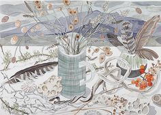 Angie Lewin - Beach and Moor Still Life