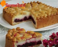 Cherry Tart Recipe- Vişneli Tart Tarifi Cherry tart recipe – I love this kind of tart. There is no need to explain the harmony of sour cherry with vanilla. Let& move on to the recipe for our cherry pie. Mug Recipes, Tart Recipes, Gourmet Recipes, Baking Recipes, Easy Desserts, Dessert Recipes, Mousse Au Chocolat Torte, Christmas Recipes For Kids, Gastronomia