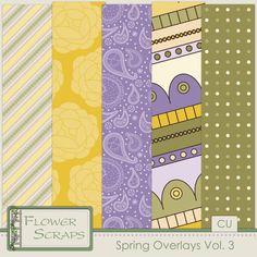 Spring Overlays Vol 3 - $3.99 : Digital Scrapbooking Studio