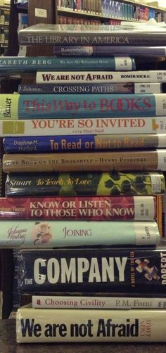 National Library Week Book Spine Poetry Contest