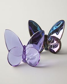 """""""Lucky"""" Butterfly, Parma Violet and Blue Iridescent"""