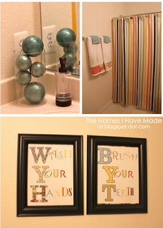 Wash your hands and brush your teeth printable bathroom decor