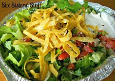 Cafe Rio Sweet Pork Salads / Six Sisters' Stuff | Six Sisters' Stuff