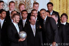 the sons of my best friends!  Great job Louise!!!!  LA Galaxy at The White House by LA Galaxy, via Flickr