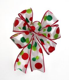 I'm thinking homemade bows for Christmas this year. :)