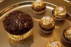 ferrero rocher cupcakes. if this is just as good as the chocolates, omg....