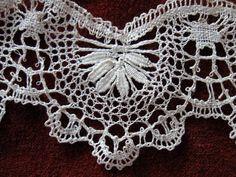 antique cluny bobbin lace trim