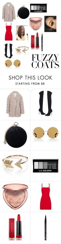 """Night on the Town"" by maya124 ❤ liked on Polyvore featuring Maison Margiela, Carvela, Karen Walker, EF Collection, Too Faced Cosmetics, Max Factor and NYX"