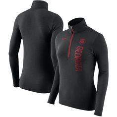 Georgia Bulldogs Nike Women's Dry Element Quarter-Zip Pullover Jacket - Heathered Black