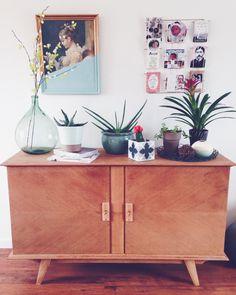déco scandinave - scandinavian home decor - buffet - plantes