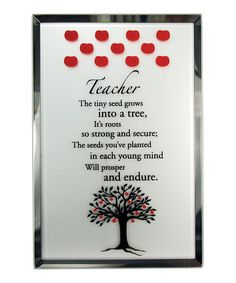 About Face Designs 6'' Teacher Apple Tree Mirror & Easel Set | Daily deals for moms, babies and kids
