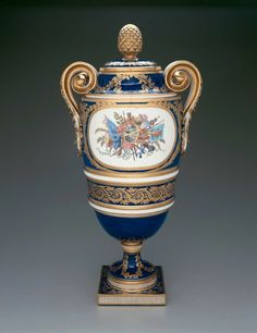 (Vase Bachelier) Made at Sèvres Manufactory, France Painted by Antoine Caton, French, active 1749–1797