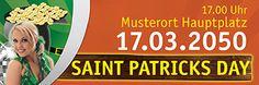 Moderne Banner Vorlagen in der Größe 300x100 cm oder 400x140 cm. #banner #bannerdesign #bannervorlage #party #greenday