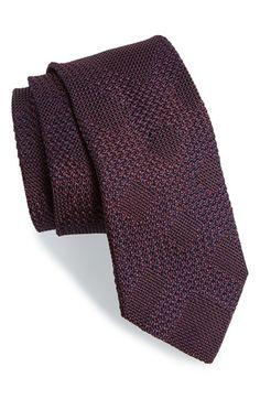 Burberry London 'Manston' Check Silk Tie