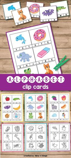 Alphabet activities for preschoolers and kindergarten is fun and hands on with these printable clip cards. Hands on learning of the alphabet is a great way to replace boring worksheets.