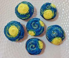 starry night cupcake cake - Google Search
