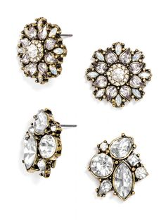 You can enter go wrong with crystal statement studs! #baublebar #swatstyle #earrings