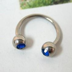 Rhinestone Piercing Blue - One Size