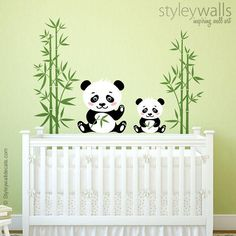 Bamboo Wall Decal, Bamboo Stalks Wall Decal, Bamboos Wall Sticker for Living Room, Bamboos Wall Decor, Bamboo Tree Wall Decal Wall Decor Nursery Decals, Baby Nursery Decor, Vinyl Wall Decals, Panda Kindergarten, Hello Kitty Rooms, Panda Nursery, Wall Stickers Animals, Bamboo Wall, Etsy