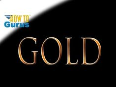How to do a Gold Text Effect, how to make Metallic Gold Lettering in Adobe Photoshop Elements 15 14 13 12 11 Tutorial