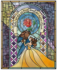 Tale As Old As Time Beauty and the Beast Print Quotes disney beauty and the beast ariel 31 Ideas Tale As Old As Time Art Print Disney Stained Glass, Stained Glass Art, Disney Love, Disney Art, Disney Couples, Walt Disney, Beauty And The Beast Wallpaper, Beauty And The Beast Drawing, Beast Quotes
