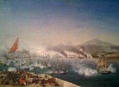 Η Ναυμαχία του Ναβαρίνου: Ο τριεθνής στόλος υπό τους ναυάρχους Δεριγνί, Κόδριγκτον και Χέιδεν κατατρόπωσε τον τουρκοαιγυπτιακό του Ιμπραήμ έξω από το Ναβαρίνο και άνοιξε το δρόμο για την ελληνική ανεξαρτησία...