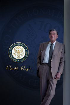 PRESIDENT RONALD REAGAN - The first Presidential election in which I was able to vote - I voted for Ronnie.